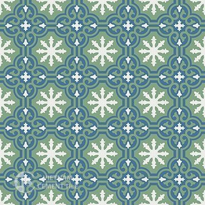 Gạch bông CTS 1.1(1-4-7)-16 viên - Encaustic cement tile CTS 1.1(1-4-7)-16tiles