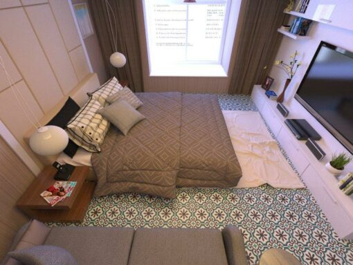 Gạch bông CTS 1.2 lát nền phòng ngủ