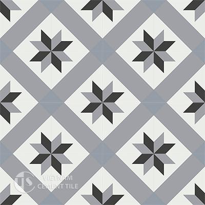 Gạch bông CTS 12.1(4-9-13-54)-16 viên  - Encaustic cement tile CTS 12.1(4-9-13-54)-16 tiles