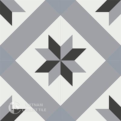 Gạch bông CTS 12.1(4-9-13-54)-4 viên  - Encaustic cement tile CTS 12.1(4-9-13-54)-4 tiles