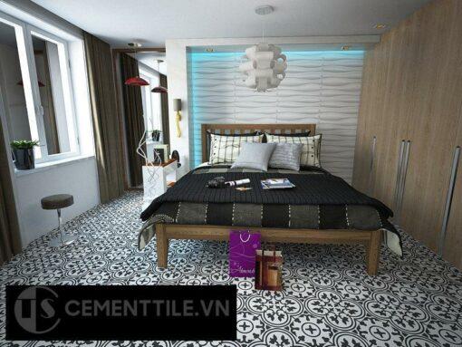 Gạch bông cts 2.1 lát nền phòng ngủ