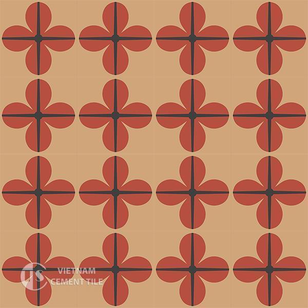 Gạch bông CTS 10.1(5-11-13) - 16 viên - Encaustic cement tile CTS 10.1(5-11-13)-16 tiles