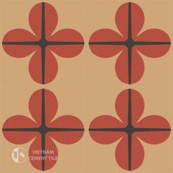Gạch bông CTS 10.1(5-11-13) - 4 viên - Encaustic cement tile CTS 10.1(5-11-13)-4 tiles