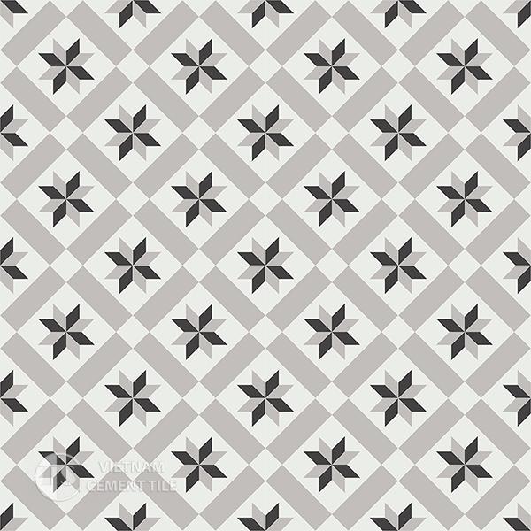 Gạch bông CTS 11.1(4-9-13) - 16 viên - Encaustic cement tile CTS 11.1(4-9-13)-16 tiles