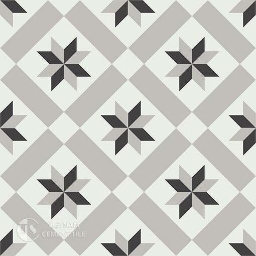 Gạch bông CTS 11.1(4-9-13) - 4 viên - Encaustic cement tile CTS 11.1(4-9-13)-4 tiles