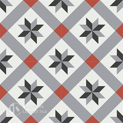 Gạch bông CTS 12.2(4-5-9-13)-16 viên  - Encaustic cement tile CTS 12.2(4-5-9-13)-16 tiles