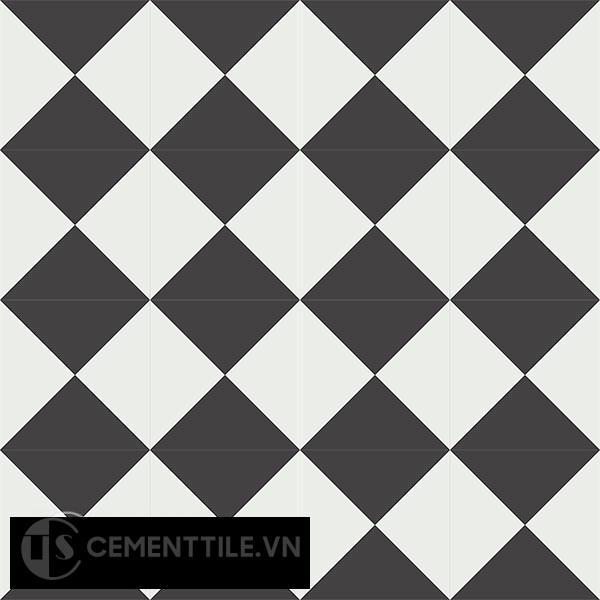 Gạch bông CTS 14.1(4-13) - 16 viên - Encaustic cement tile CTS 14.1(4-13)-16 tiles