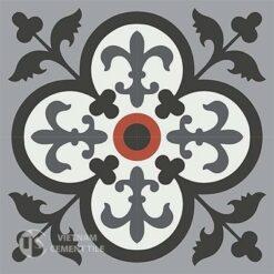 Gạch bông CTS 15.1(4-5-13-9-32)- 4 viên - Encaustic cement tile CTS 15.1(4-5-9-13-32)-4tiles