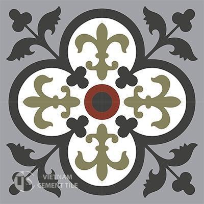 Gạch bông CTS 15.3(4-9-13-30-52)- 4 viên - 4 viên - Encaustic cement tile CTS 15.3(4-9-13-30-52))-4 tiles