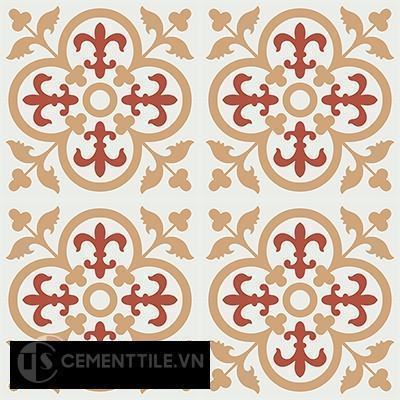 Gạch bông CTS 15.6(4-5-11) - 16 viên - Encaustic cement tile CTS 15.6(4-5-11)-16tiles