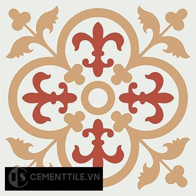 Gạch bông CTS 15.6(4-5-11) - 4 viên - Encaustic cement tile CTS 15.6(4-5-11)-4 tiles