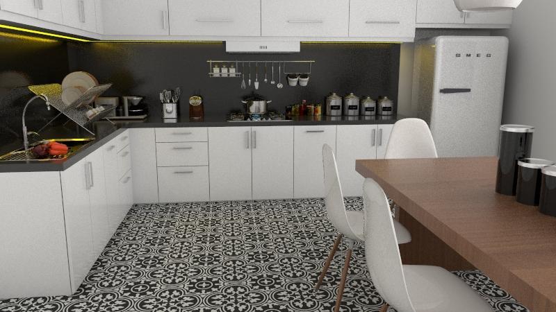 Gạch bông cts 2.3 trang trí nhà bếp