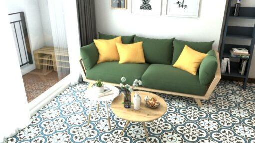 Gạch bông CTS 2.5 trang trí phòng khách