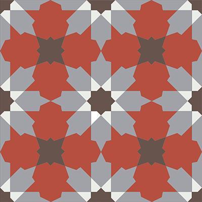 Gạch bông CTS 3.4(4-5-9-14) - Encaustic cement tile CTS 3.4(4-5-9-14)