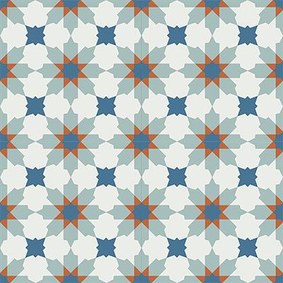 Gạch bông CTS 3.5(1-4-143-145)-4 viên - Encaustic cement tile CTS 3.5(1-4-143-145)-4tiles