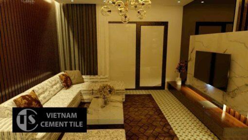 Gạch bông cts 3.5 lát nền phòng ngủ