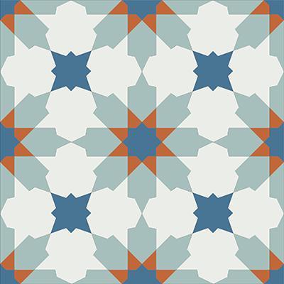 Gạch bông CTS 3.5(1-4-143-145) - Encaustic cement tile CTS 3.5(1-4-143-145)