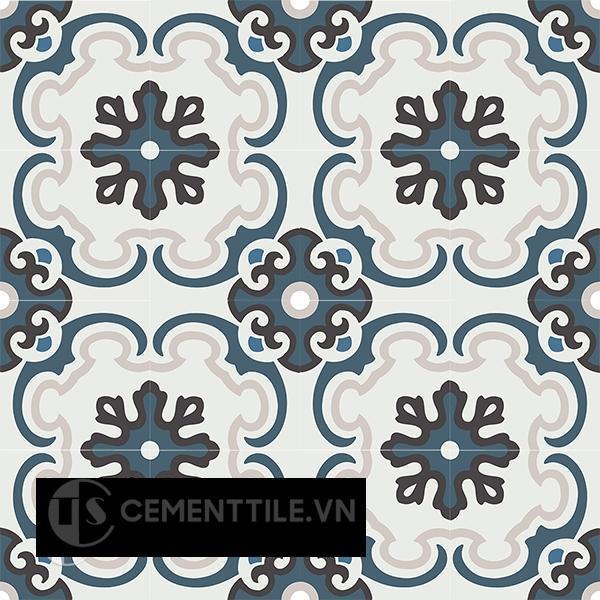 Gạch bông CTS 5.1(1-2-13-50) - 16 viên - Encaustic cement tile CTS 5.1(1-2-13-50) - 16 tiles