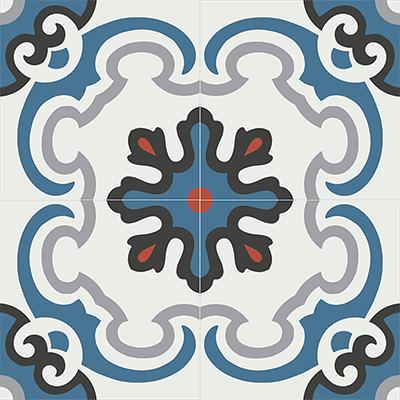 Gạch bông CTS 5.2(1-4-5-9-13)-4 viên - Encaustic cement tile CTS 5.2(1-4-5-9-13)-4tiles