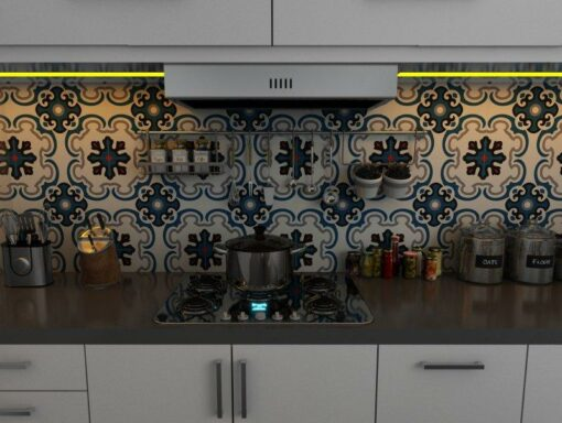 Gạch bông cts 5.2 ốp tường nhà bếp