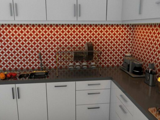 Gạch bông cts 6.2 ốp tường nhà bếp