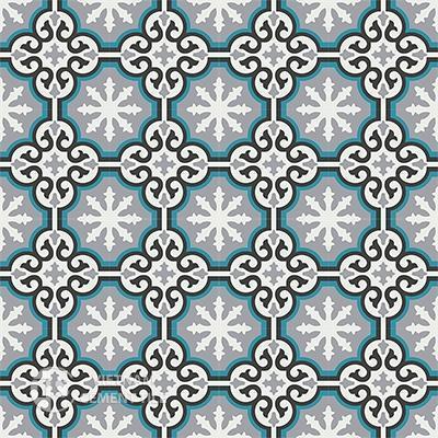 Gạch bông CTS 1.10(4-9-13-57)-16 viên - Encaustic cement tile CTS 1.10(4-9-13-57)-16tiles