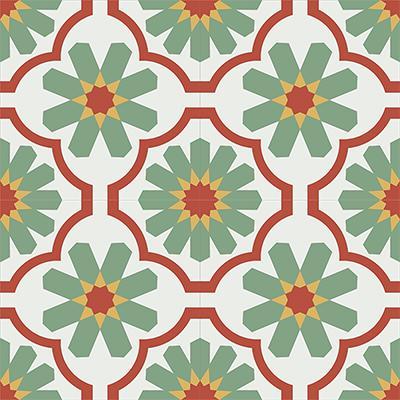 Gạch bông CTS 16.1(4-5-6-7)-4 viên - Encaustic cement tile CTS 16.1(4-5-6-7)-4 tiles