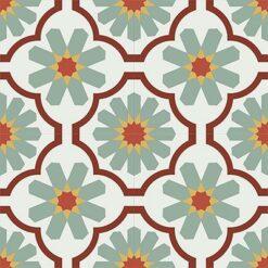 Gạch bông CTS 16.2(4-5-6-26-30)-4 viên - Encaustic cement tile CTS 16.2(4-5-6-26-30)-4 tiles