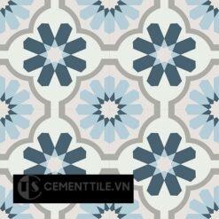 Gạch bông CTS 16.3(1-2-4-9-54)-4 viên - Encaustic cement tile CTS 16.3(1-2-4-9-54)-4 tiles