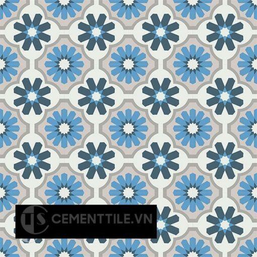 Gạch bông CTS 16.4(1-4-8-9-50) - 16 viên - Encaustic cement tile CTS 16.4(1-4-8-9-50)-16 tiles