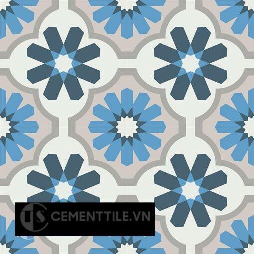Gạch bông CTS 16.4(1-4-8-9-50) - 4 viên - Encaustic cement tile CTS 16.4(1-4-8-9-50)-4tiles