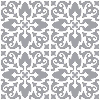 Gạch bông CTS 18.1(4-9)-4 viên - Encaustic cement tile CTS 18.1(4-9)-4 tiles