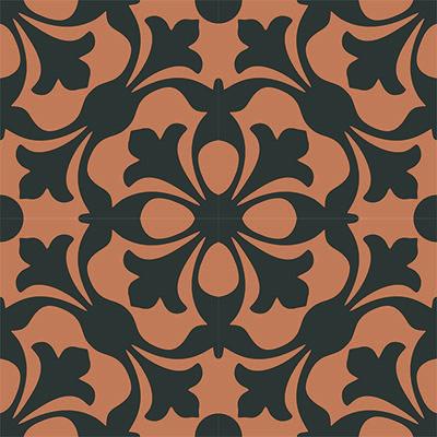 Gạch bông CTS 20.1(13-37)-4 viên - Encaustic cement tile CTS 20.1(13-37)-4 tiles