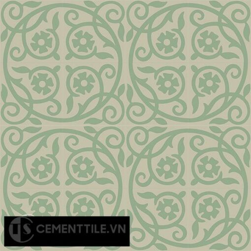 Gạch bông CTS 21.1(7-12) - 16 viên - Encaustic cement tile CTS 21.1(7-12)-16 tiles
