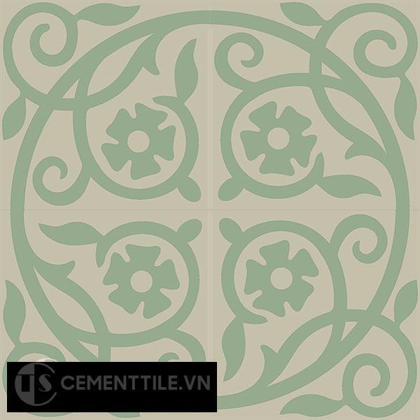 Gạch bông CTS 21.1(7-12) - 4 viên - Encaustic cement tile CTS 21.1(7-12)-4 tiles