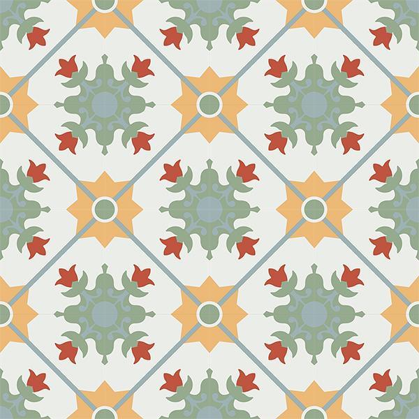 Gạch bông CTS CTS 23.1(4-5-6-7-26) - 16 viên - Encaustic cement tile CTS 23.1(4-5-6-7-26) - 16 tiles