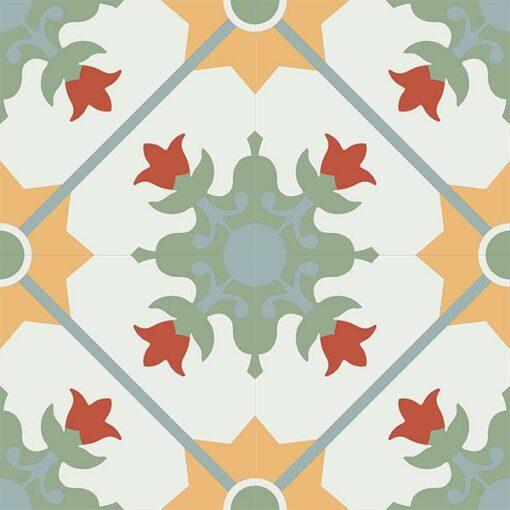 Gạch bông CTS CTS 23.1(4-5-6-7-26) - 4 viên - Encaustic cement tile CTS 23.1(4-5-6-7-26) - 4 tiles