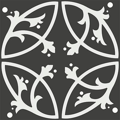 Gạch bông CTS 24.1(4-13) - 4 viên - Encaustic cement tile CTS 24.1(4-13)-4 tiles