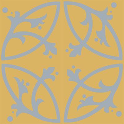 Gạch bông CTS 24.5(6-50) - 4 viên - Encaustic cement tile CTS 24.5(6-50)-4 tiles