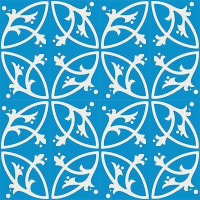 Gạch bông CTS 24.7(4-8) - 16 viên - Encaustic cement tile CTS 24.7(4-8)-16 tiles