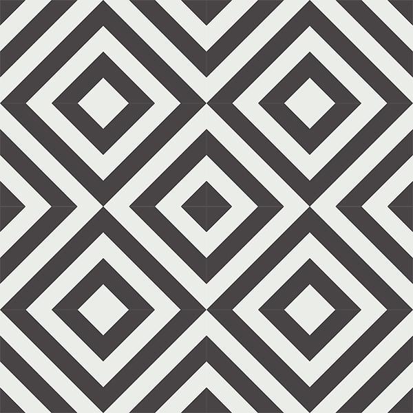 Gạch bông CTS 25.1(4-13) - 16 viên - Encaustic cement tile CTS 25.1(4-13)-16 tiles