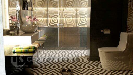 Gạch bông cts 25.1 trang trí nhà tắm