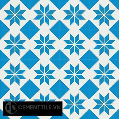 Gạch bông CTS 27.2(4-8) - 16 viên - Encaustic cement tile CTS 27.2(4-8)-16 tiles
