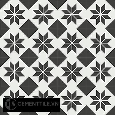 Gạch bông CTS 27.3(4-13) - 16 viên - Encaustic cement tile CTS 27.3(4-13)-16 tiles
