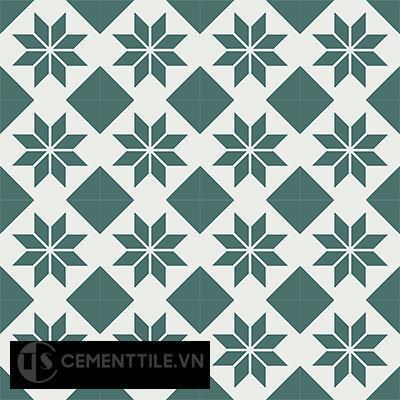 Gạch bông CTS 27.4(4-24) - 16 viên - Encaustic cement tile CTS 27.4(4-24)-16 tiles