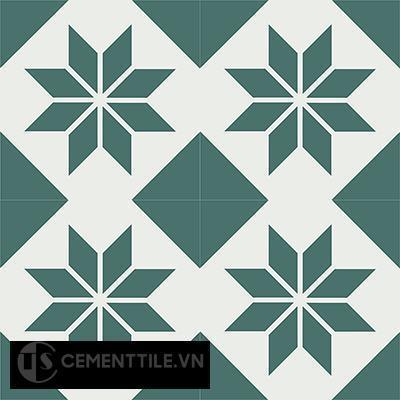 Gạch bông CTS 27.4(4-24) - 4 viên - Encaustic cement tile CTS 27.4(4-24)-4 tiles