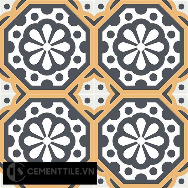Gạch bông CTS 29.1(4-6-32) - 4 viên - Encaustic cement tile CTS 29.1(4-6-32)-4 tiles
