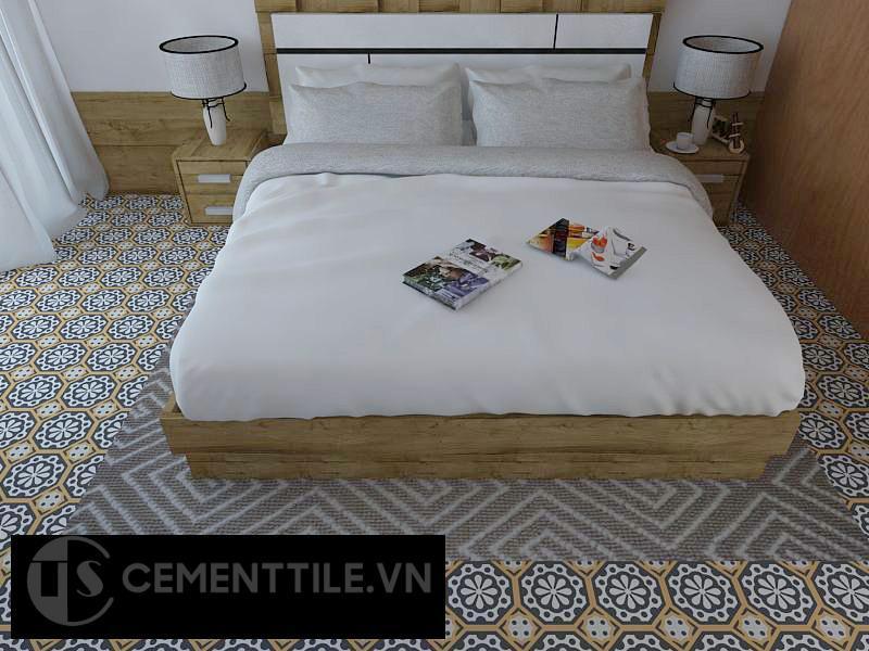 Gạch bông cts 29.1 lát nền phòng ngủ