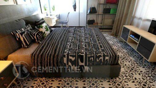 Gạch bông CTS 35.2 trang trí phòng ngủ