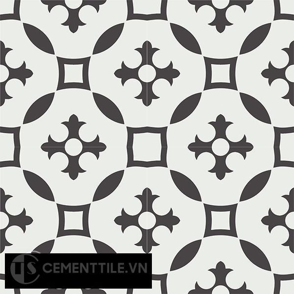 Gạch bông CTS 36.1(4-13) - 4 viên - Encaustic cement tile CTS 36.1(4-13)-4 tiles